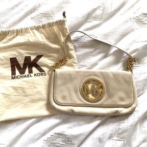 Michael Kors Cream Clutch Purse